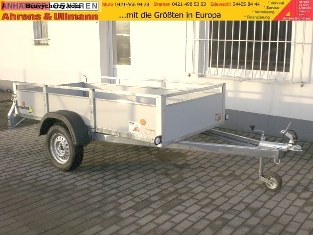2011 Agados  Box trailer 750kg 250x125x35cm wood railing Trailer Trailer photo