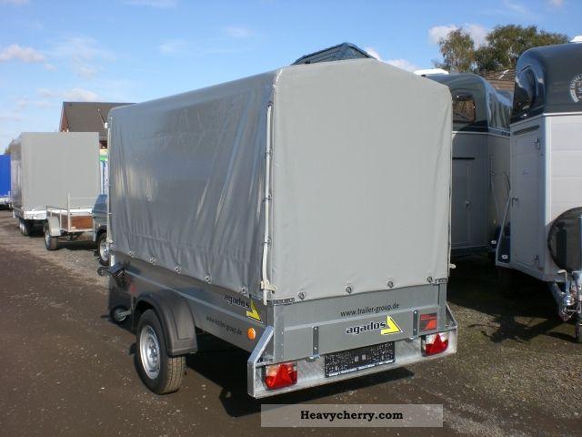 2011 Agados  750kg steel trailer 265x125x150cm plan Trailer Stake body and tarpaulin photo