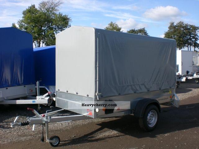 2011 Agados  Plan trailer 1300kg steel 265x126x150cm Trailer Stake body and tarpaulin photo