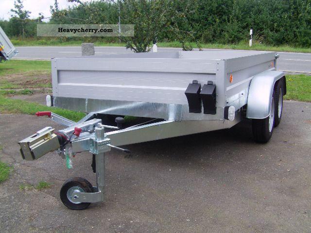 2011 Agados  VZ31 2500 kg a.f. 300x154x35 cm aluminum Construction Trailer Trailer photo