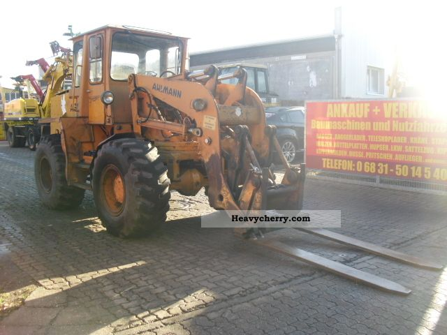 1991 Ahlmann  Loaders AS Schwenklenkarm 12E ** / ** forks Construction machine Wheeled loader photo