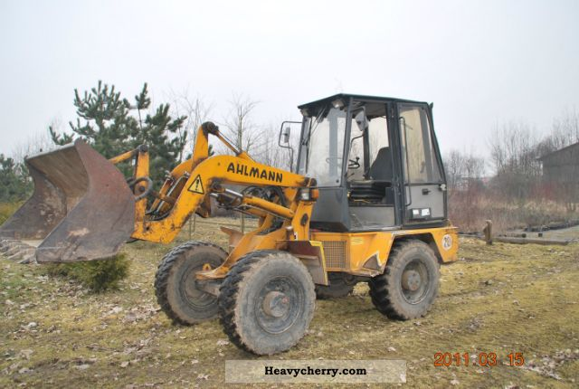 1995 Ahlmann  AL70E Construction machine Wheeled loader photo