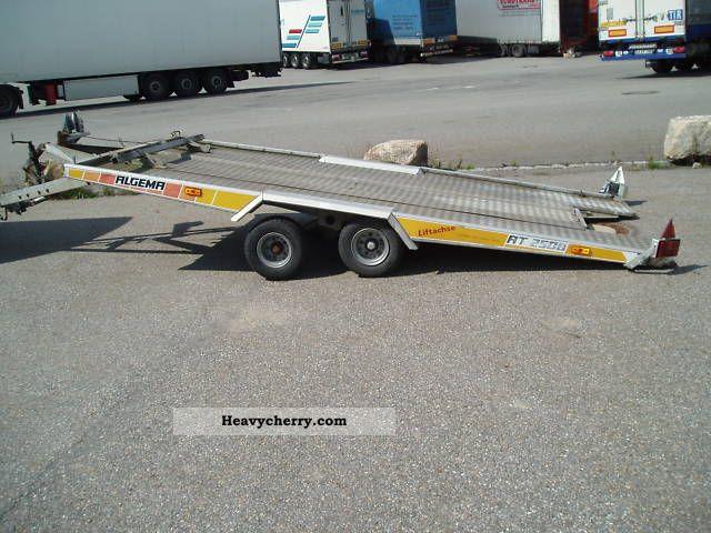 1995 Algema  * AT 2508 LB 3.100, - EUR * 1 Hand Trailer Car carrier photo