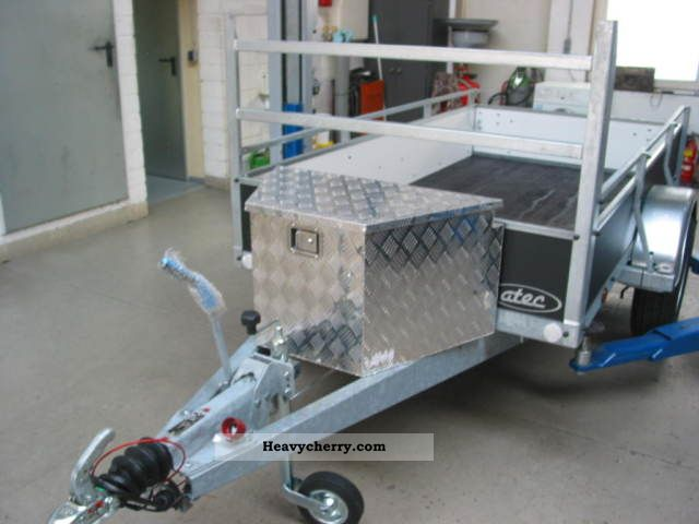 2011 Atec  WOODEN BOX TRAILER 1 AXLE TOOL BOX 1300 Kg Trailer Trailer photo