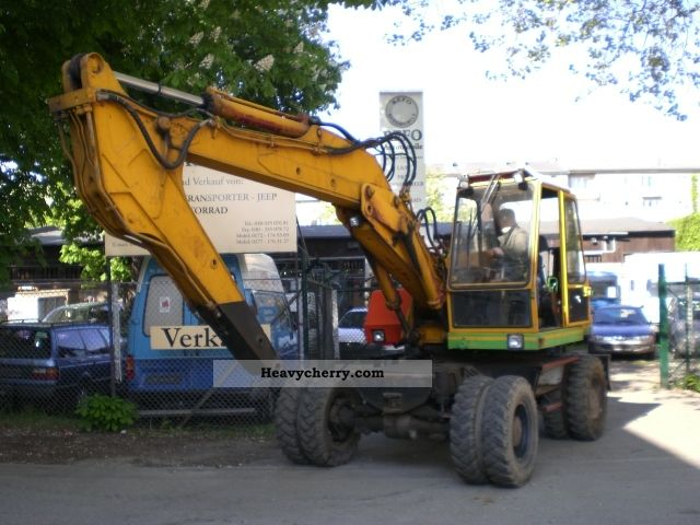 1988 Atlas  1302 D, mobile excavators, m. all connections., gripper Construction machine Mobile digger photo