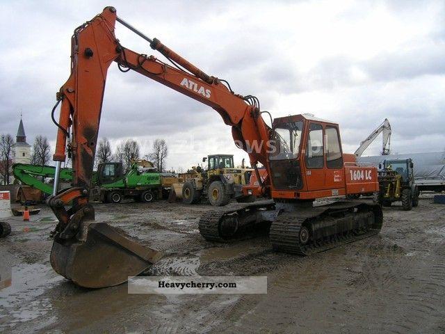 1993 Atlas  1604 LC Construction machine Caterpillar digger photo