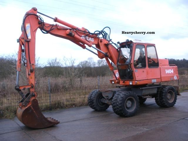 1990 Atlas  1404 / bucket / breaker piping Construction machine Mobile digger photo