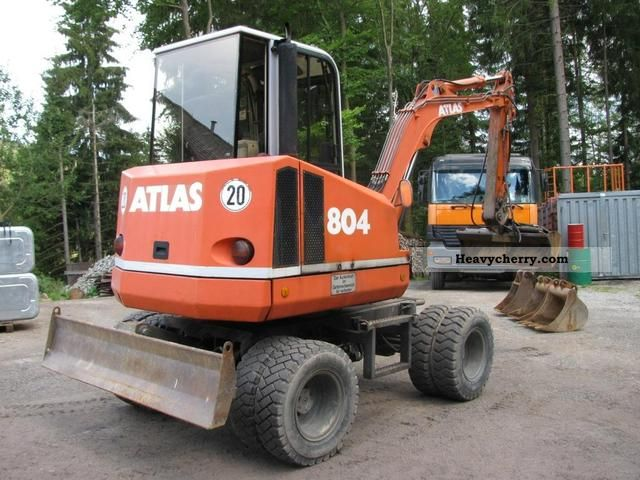 1995 Atlas  804 with 4 tools, 1 Hand - TOP - Construction machine Mobile digger photo