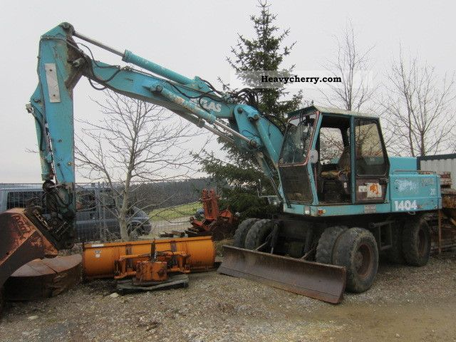 1989 Atlas  Spoon 3 1404 4 Gripper Construction machine Mobile digger photo