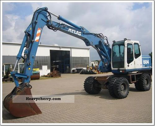 2000 Atlas  1504 Construction machine Mobile digger photo