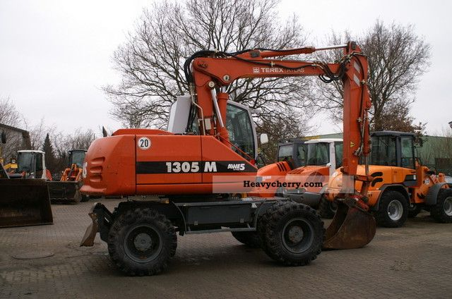 2006 Atlas  1305 M - hydr. Boom, AirCo, SW, tires 50% Construction machine Mobile digger photo