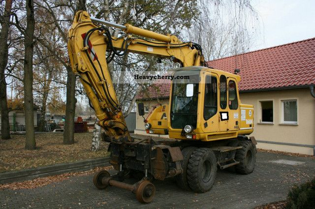 2002 Atlas  1604 ZW road rail excavator track testing in 2016 Construction machine Mobile digger photo
