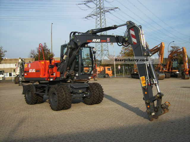 2011 Atlas  140 W Construction machine Mobile digger photo