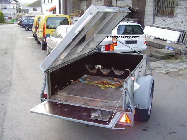 1995 Auwarter  Auwärter versch.GL85 suitcase trailer (black type) slowed Trailer Box photo