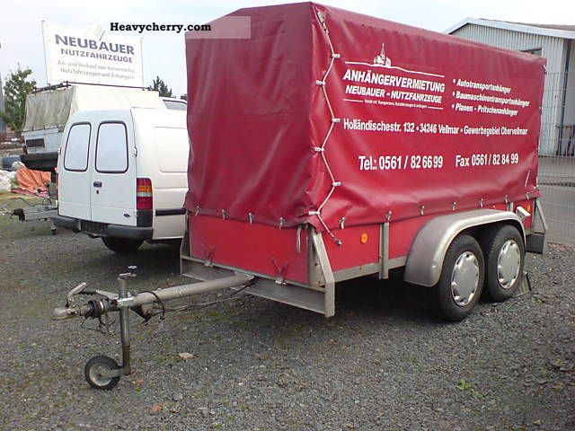 1987 Auwarter  Auwärter loaders m. Flatbed / tarpaulin also rent! Trailer Stake body and tarpaulin photo