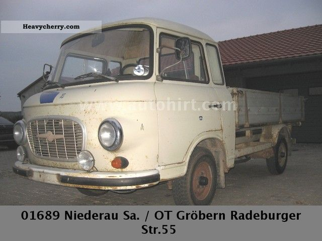 1989 Barkas  B 1000 platform Van or truck up to 7.5t Stake body photo