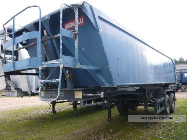1995 Benalu  Aluminum Hinterkippsattelauflieger Semi-trailer Tipper photo