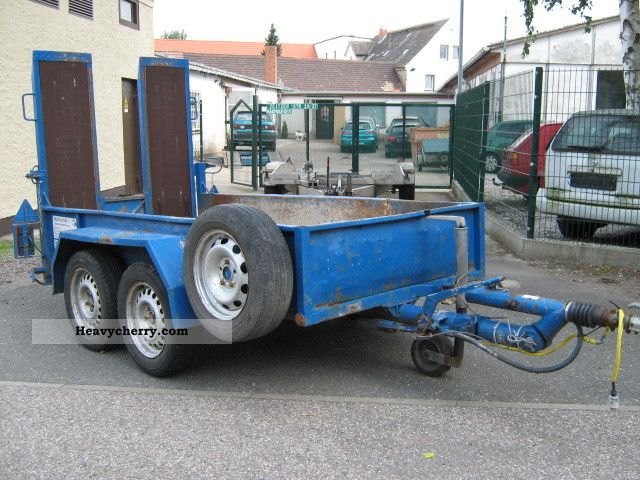 1992 Blomenrohr  Blomenröhr trailers with ramps / 2 axles. Trailer Other trailers photo