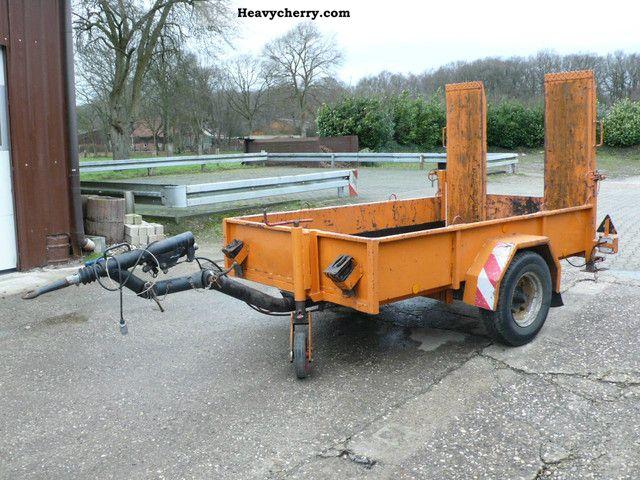 1985 Blomenrohr  Blomenröhr transporter low loader mini excavator Trailer Low loader photo