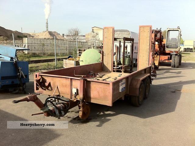 1983 Blomenrohr  Blomenröhr low loader transporters Construction Trailer Low loader photo