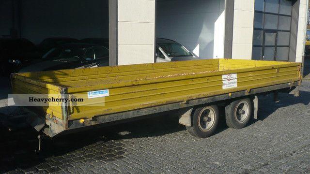 1993 Blomenrohr  Blomenröhr TP4-89 617 Anh.off. Box trailer with Laderamp Trailer Low loader photo
