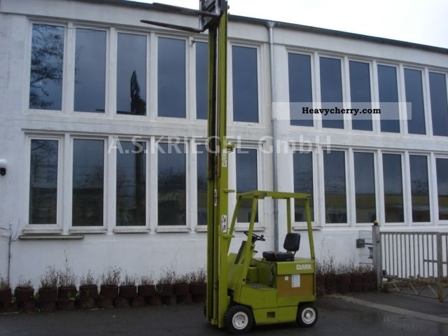 1980 Clark  EC500Y30 4.8 1.5 METER TONS SIDE SLIDE 48V Forklift truck Front-mounted forklift truck photo
