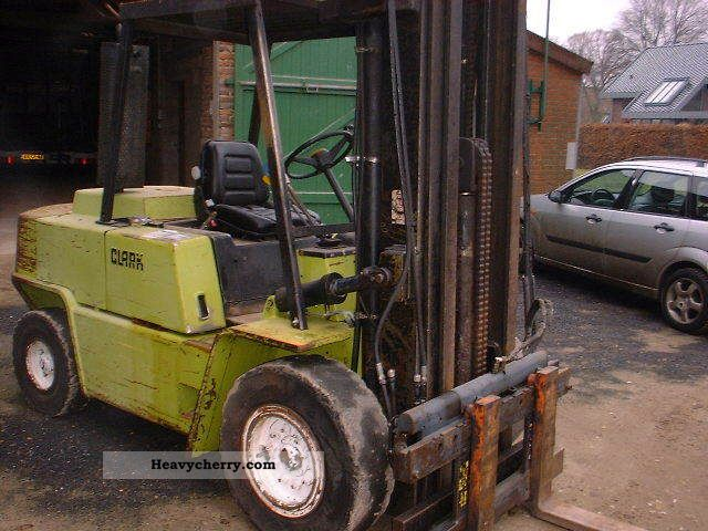 Clark C500 Y80 1989 Front-mounted forklift truck Photo and Specs