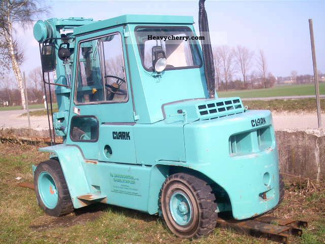 1987 Clark  C580 Forklift truck Front-mounted forklift truck photo