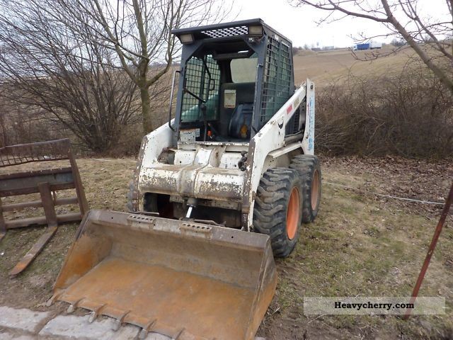 Bobcat 753 Many With Attachments 1991 Wheeled Loader Construction