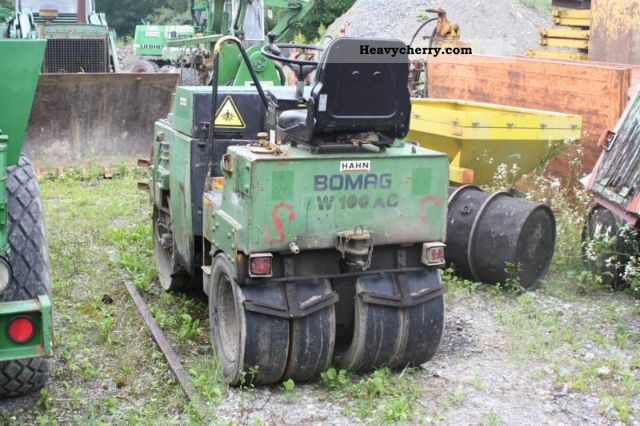 1984 BOMAG  100 AC Construction machine Rollers photo