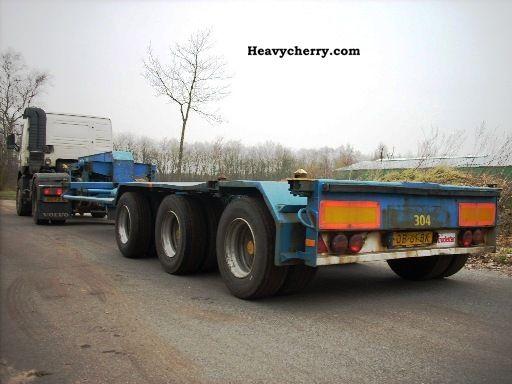 1992 Broshuis  std345 Semi-trailer Low loader photo