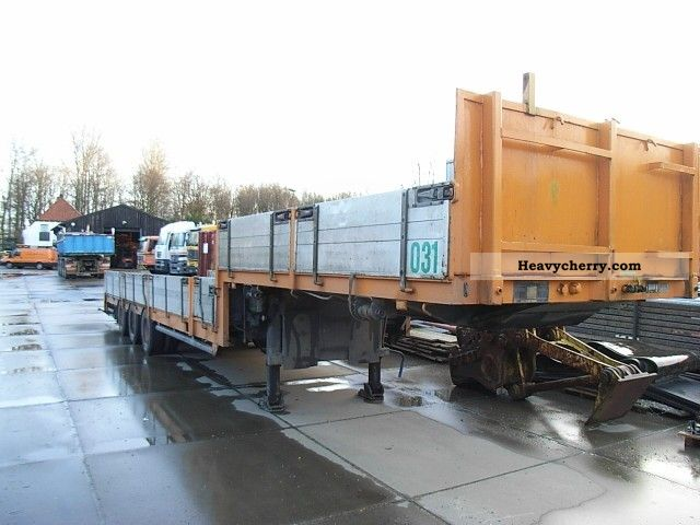 1986 Broshuis  E uitschuifer 2190/27, Semie Semi-trailer Low loader photo