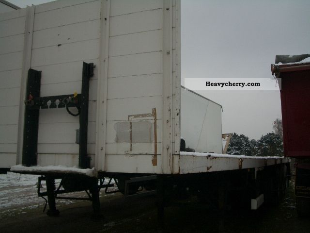 1992 Broshuis  3AOU-14-22 heavy duty / Extendable Semi-trailer Low loader photo