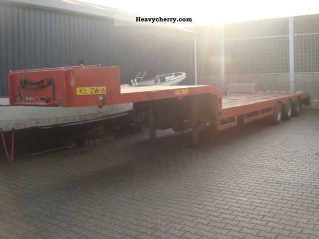 1997 Broshuis  3-AXIS Semi-trailer Low loader photo