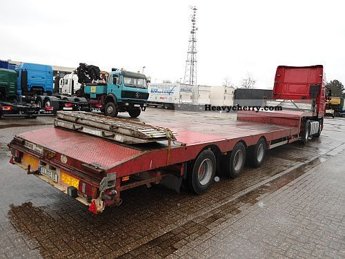 1998 Broshuis  3-axle low-Alder, extendable 6,000 mm, air Semi-trailer Low loader photo