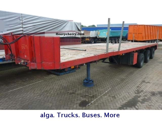 1985 Broshuis  37 mtr. extensible Semi-trailer Low loader photo
