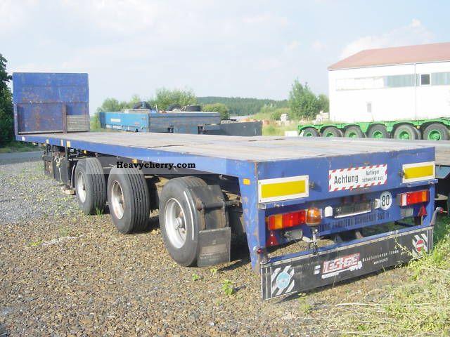1993 Broshuis  3AOU-48 / 1 Semi-trailer Low loader photo