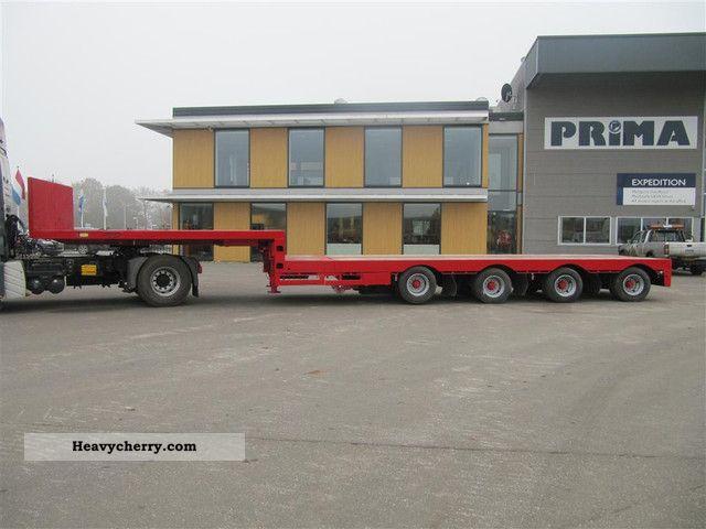 1998 Broshuis  5 B 44 H Power Steering extendible Semi-trailer Low loader photo