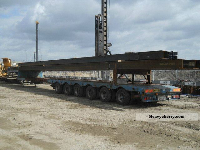 1994 Broshuis  6 trailer axles, extendable to 23 m Semi-trailer Low loader photo
