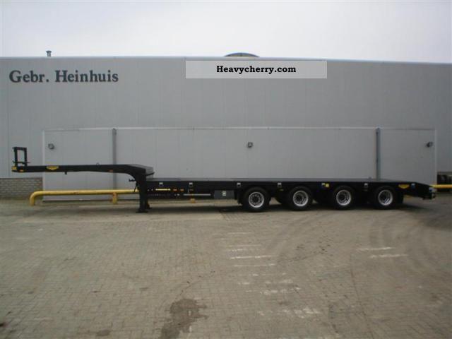 2011 Broshuis  16-40 4 4 axle semi AOU new tele Semi-trailer Low loader photo