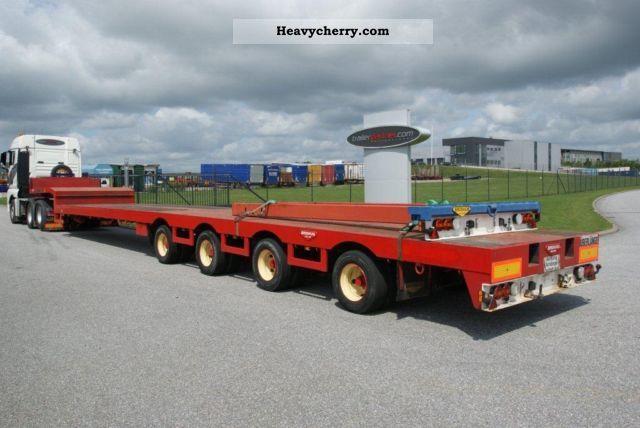 2001 Broshuis  Teleskob to 44 m / 47 m Semi-trailer Low loader photo