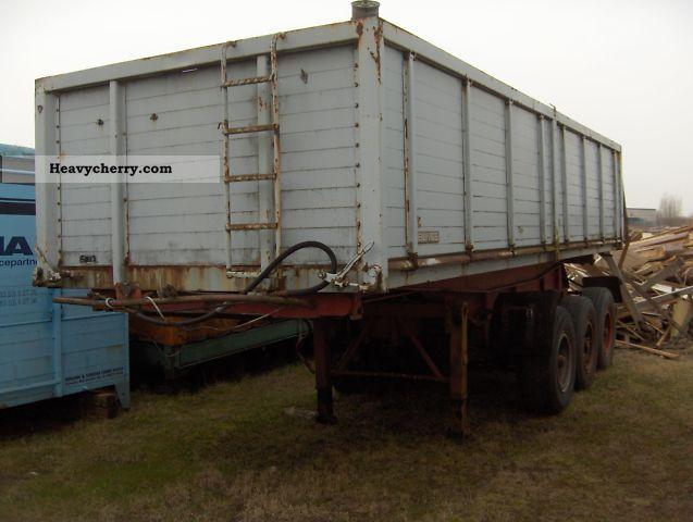 1980 Bunge  3-way tipper / dump body 25 m³ Semi-trailer Tipper photo