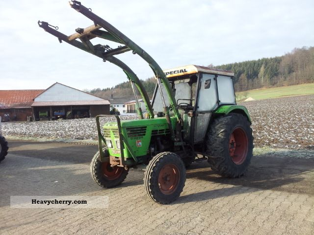 1974 Deutz-Fahr  6206 with front loader Agricultural vehicle Tractor photo