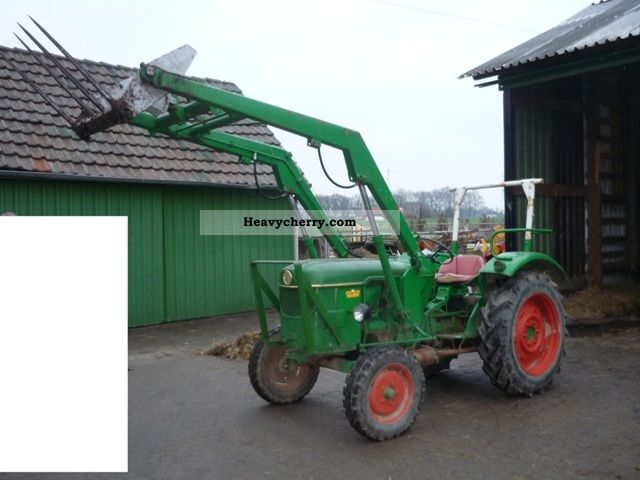 Deutz Fahr D 2505 With Front Loader 1966 Agricultural