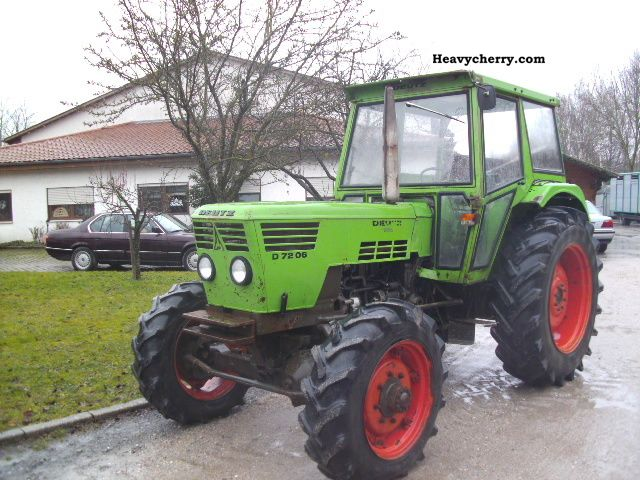 Deutz Fahr 7206 Four Wheel 1976 Agricultural Tractor Photo