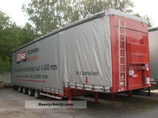 2009 Dinkel  4-axis tele-trailers - MEGA Semi-trailer Low loader photo
