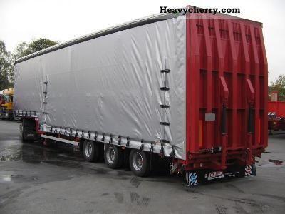 2011 Dinkel  3-axis MEGA Sattelteflader - hydr. Ramp - Aufba Semi-trailer Low loader photo