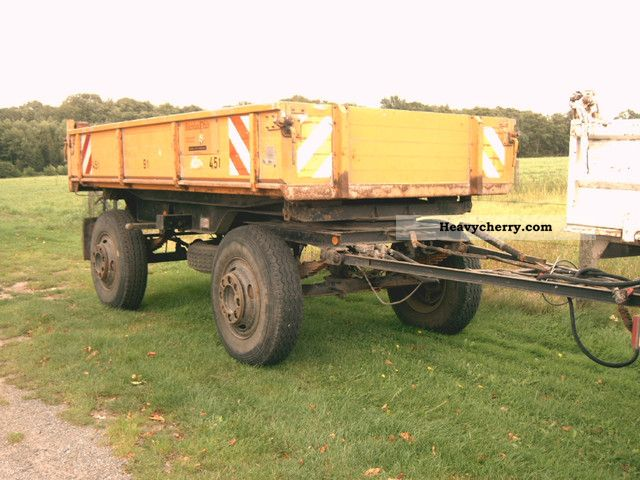 1980 Doll  2 DK 9 6Tonnen payload Dreiseitenkipper Trailer Three-sided tipper photo