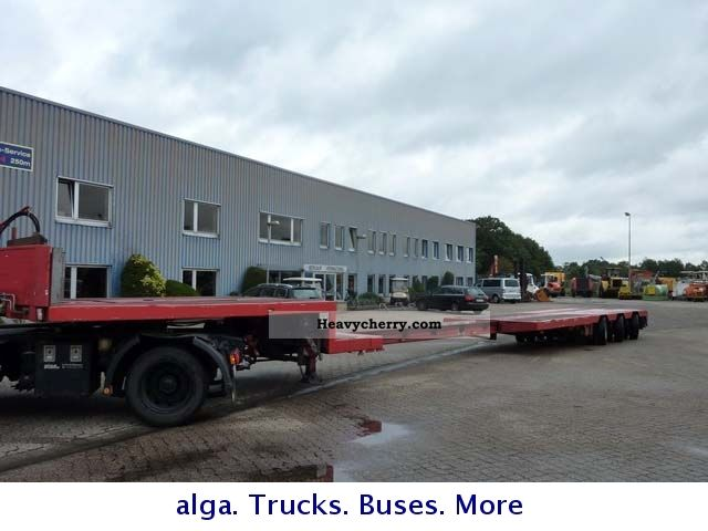 2001 Doll  48 To. Extendable to 20 mtr Semi-trailer Low loader photo