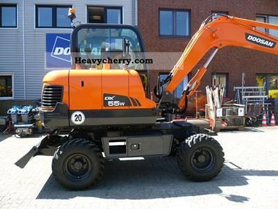 2011 Doosan  DX 55 W Construction machine Mobile digger photo